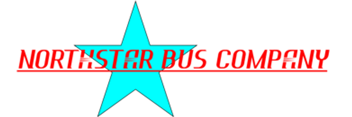 Photo of the Northstar Bus Company logo.