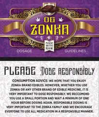 OG Zonka Sugar Free Chocolate Bar 200mg