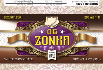 OG Zonka White Choclate 200mg Bars