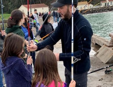 Kids birthday parties in San Francisco, children fishing, crab fishing in San Francisco, fishing bay area.