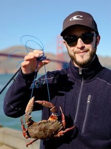 Crab Snares, Alex Goffo, Golden gate bridge, fishing, red rock crab, blue nooses, keeper