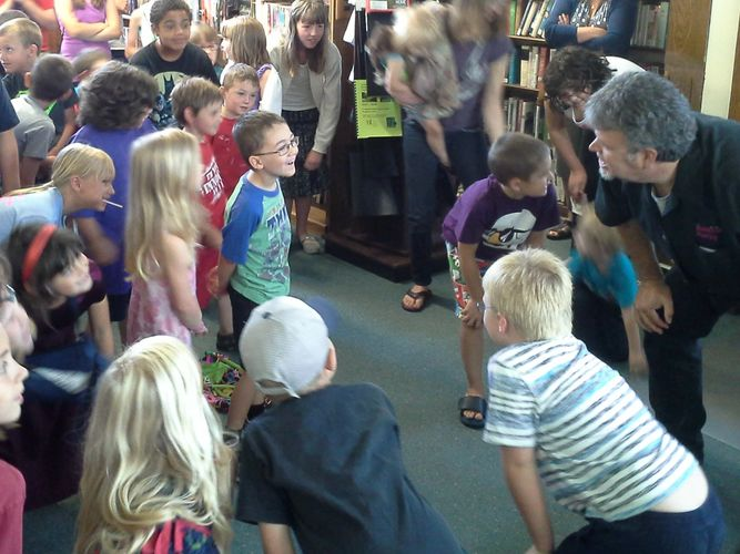 School and library visits, a Mr. Mike specialty!