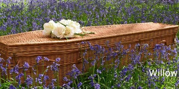 An Eco friendly wicker coffin