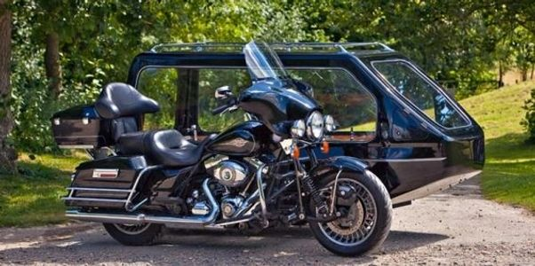 A Motorcycle Hearse