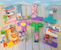 Muppet Babies Letters, Muppet Babies Theme, Muppet Babies Party Decorations, Muppet Babies