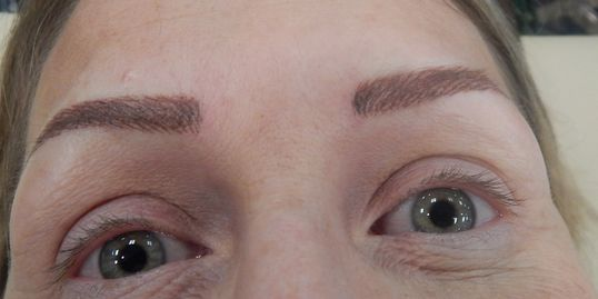 After Hairstroke Eyebrows