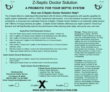 2.5 gallon Z-Septic doctor solution