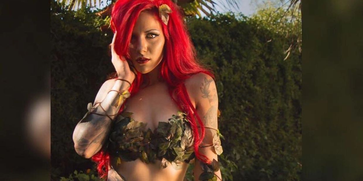 sexy poison Ivy cosplay costume