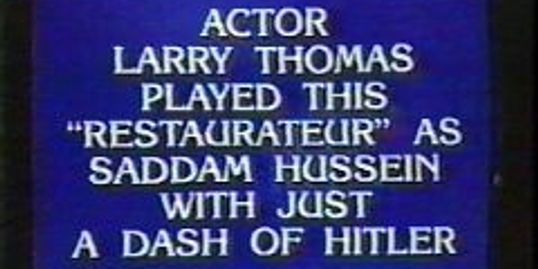 A Jeopardy question.  The opposite end of the spectrum