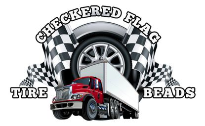 Checkered Flag Tire Beads
