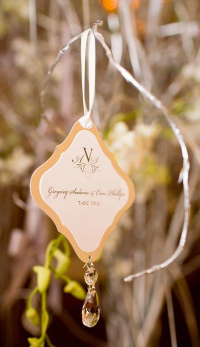 Hanging Crystal Escort Cards