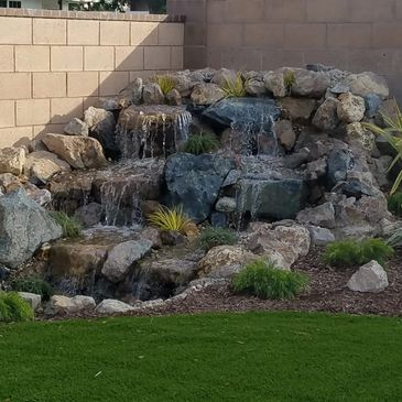 Pondless Waterfall, professional, professional design, low maintanence.