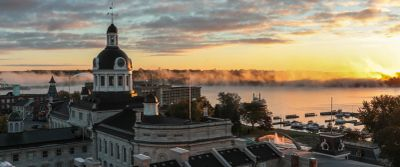 Kingston Municipal Building at Sunrise
