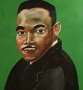 One of my 1st Maryin Luther King painting I did of him.