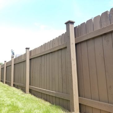 Protect your fence from the elements and put a fresh coat of stain on it.