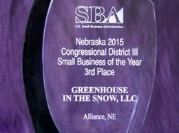 Nebraska 2015 Congressional District III Small Business of the Year...3rd Place