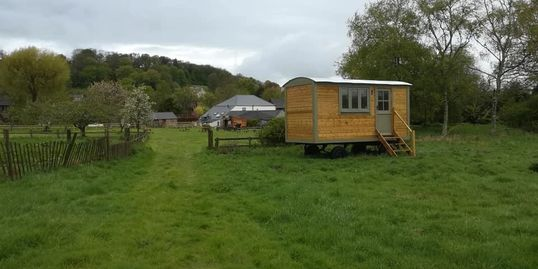Shepherd hut and camping