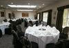 Prested Hall (Metal Chairs) Black Stretch Lycra Chair Covers with Black Lace Chair Hoods with Champagne Gold Flower Pattern