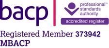 BACP british association of counselling & psychotherapy registered member accredited