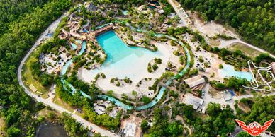 Disney Springs Resorts Typhoon Lagoon Premium Outlets Helicopter Tour Aerial Orlando FL