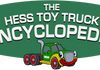 "Our Hess Toy Truck Encyclopedia mascot ""Trucky""* - *not affiliated with Hess Corp."