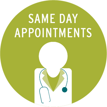 same day appointments sign