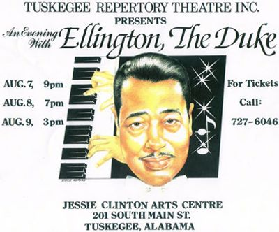 Program cover for An Evening with Ellington,the Duke at TRT