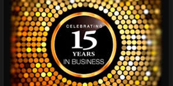 15 years in business!