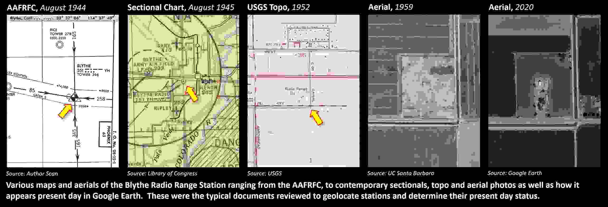 Low Frequency Radio Range, Four Course Radio Range: Map and Methodology