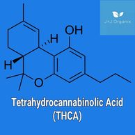 Chemical compound structure of THCA