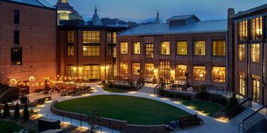 Renovation of the Historic Foundry Buildings in Asheville North Carolina. Hotel restaurant lounge