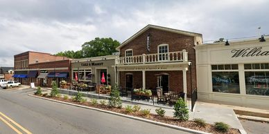Redcaly design Historic downtown renovation commercial design McAdenville North Carolina