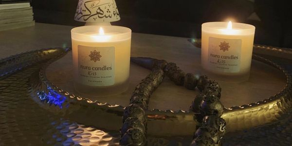 Nura candles hand poured Arabian Incense Scented Soy Candle