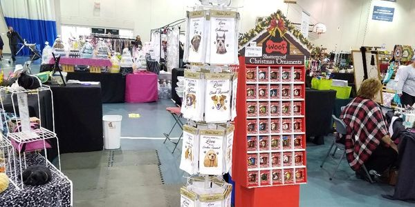 Our booth at Christmas show in Franklin, WI