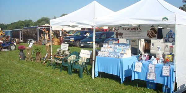 St. Germain Flea Market a few years ago when we were selling at outdoor shows.