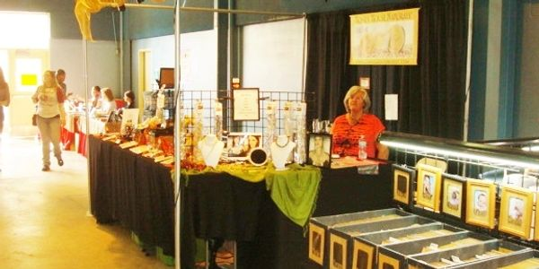 Our booth in a show in Oklahoma
