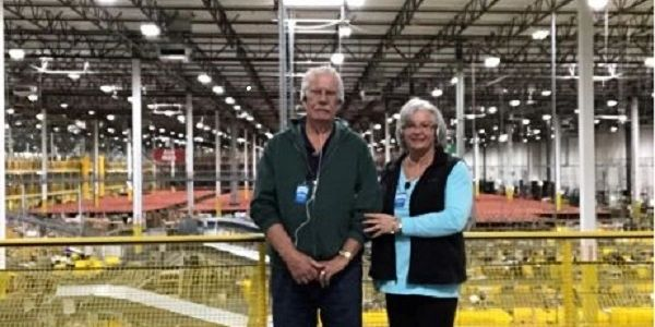 Image from our tour of Amazon warehouse Arizona in 2018