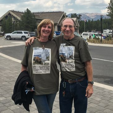 John & Marie Levandoski in Yellowstone National Park on Centennial Day 2016.