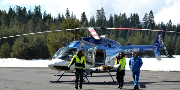 Critical care training with AirLink helicopter service