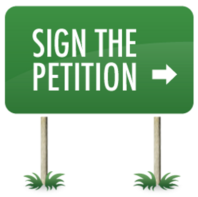Click the image to sign our petition!