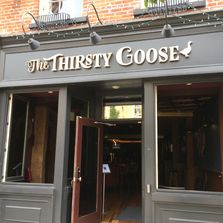 storefront image of the thirsty goose in downtown port hope pub restaurant live entertainment spot