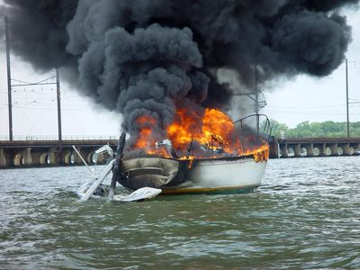 Sailboat Fire, Photo by Terry Healy IStock