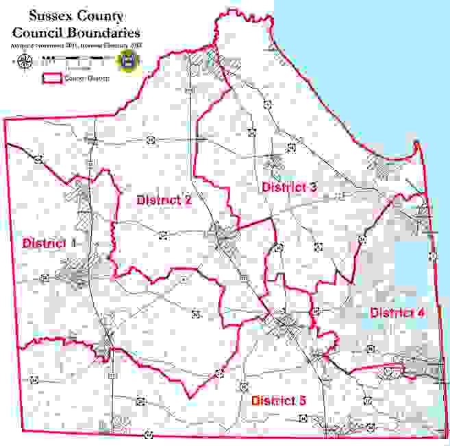 Sussex County Council Boundaries