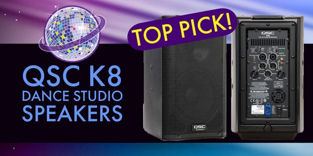 QSC K8 Dance Studio Speakers