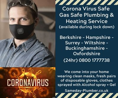 Plumbers in Frimley available during the Covid 19 Corona virus pandemic