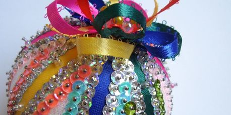 Celebration Sequin and Glitter Ornament