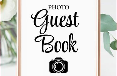 When You add 3 or more hours at regular price You'll Receive a Free PhotoBooth Guestbook.