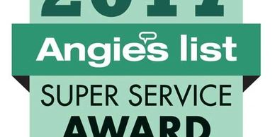 "Angie's List gives a ""Super Service Award"" based on customer reviews"