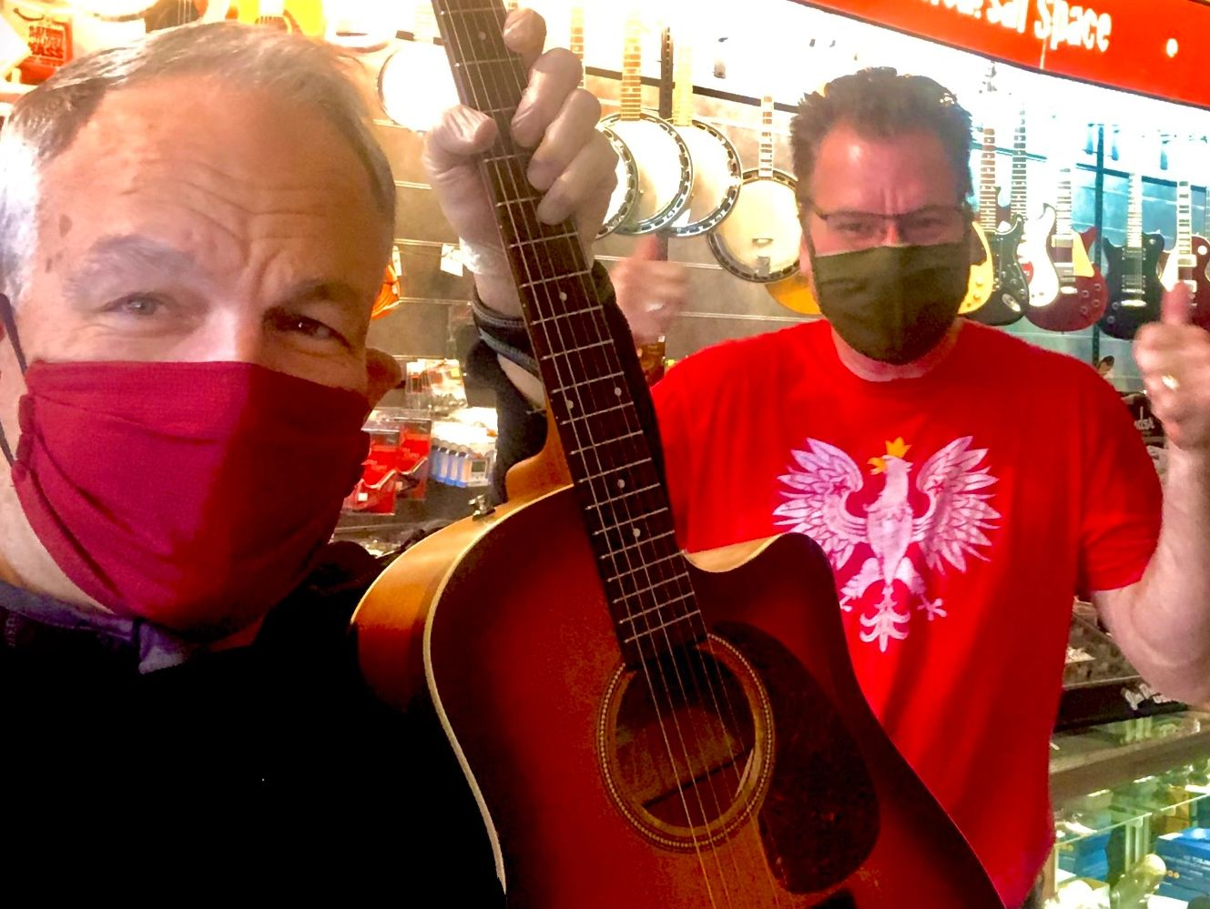 Get that guitar playing right by the Masked Men of Metro Sound! Fixing everything musical since '91!
