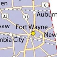 Fort Wayne Map